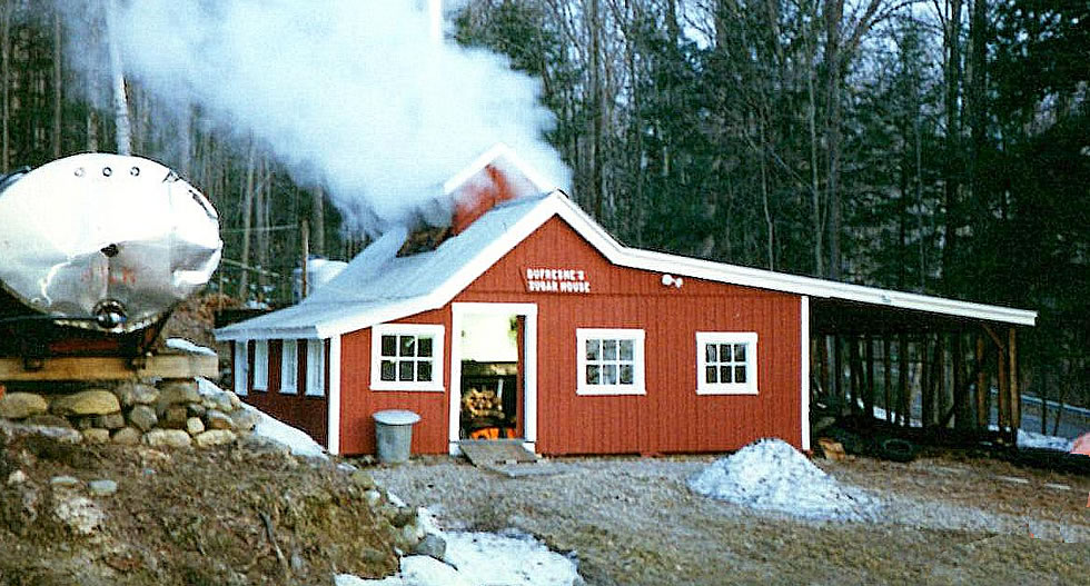 Dufresne's Sugar House during a boil